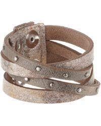 Leatherock - B453 (taupe) Bracelet - Lyst