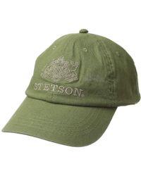 d9bd6106e61 Stetson - Linen Blend Unstructured Baseball Cap (natural) Caps - Lyst