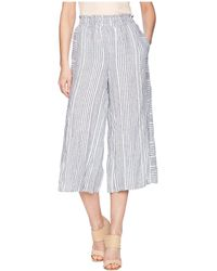 Two By Vince Camuto - Variegated Stripe Linen Wide Leg Culottes (rich Black) Women's Skort - Lyst