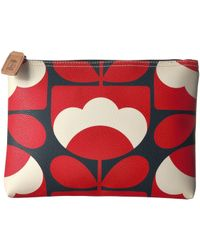 Orla Kiely - Spring Bloom Vinyl Luggage Large Pouch - Lyst