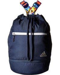 bcdd19f61d adidas - Squad Bucket Backpack (white Grip black lucid Red) Backpack Bags