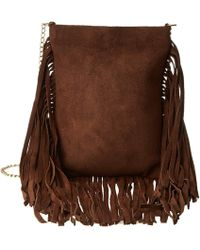Leatherock - Cp59 (split Brown/amber) Handbags - Lyst