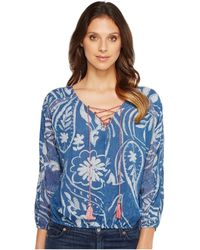 Lucky Brand - Exploded Floral Peasant Top - Lyst