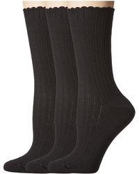 Hue - Scalloped Pointelle Socks 3-pack - Lyst