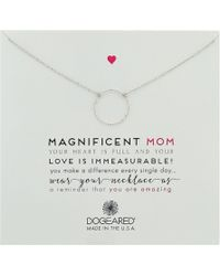 Dogeared - Magnificent Mom, Little Sparkle Karma Necklace (sterling Silver) Necklace - Lyst