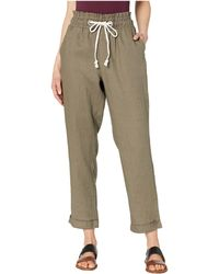 1868580241 Two By Vince Camuto - Slim Leg Pull-on Drawstring Linen Cuffed Pants (dusty