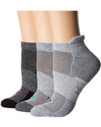 Sperry Top-Sider - 3-pack Performance Tab Ultra Low Show (gray Marl Assorted) Women's No Show Socks Shoes - Lyst