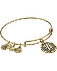 ALEX AND ANI - Initial W Charm Bangle - Lyst