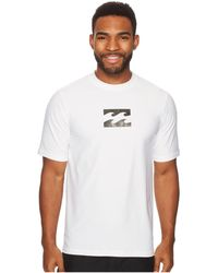 Billabong - All Day Wave Loose Fit Short Sleeve (white) Men's Swimwear - Lyst