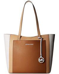 978dc4df7db5 MICHAEL Michael Kors - Gemma Large Pocket Tote (acorn/butternut) Tote  Handbags -