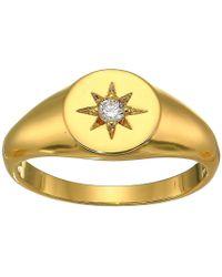 Shashi - Starburst Signet Ring (gold) Ring - Lyst