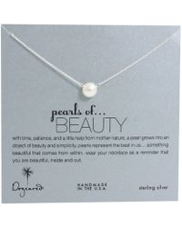 Dogeared - Pearls Of Beauty Necklace (gold Dipped) Necklace - Lyst