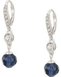 59717f3f1 Lyst - Lauren By Ralph Lauren Metal Navette Double Drop Earrings in Gray