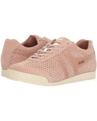 8382e73ac0c9 Lyst - Gola Harrier Glimmer Suede (blush Pink rose Gold off-white ...