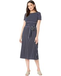 Lauren by Ralph Lauren - C3 Driver Stripe Kristie Dress (lighthouse Navy/colonial Cream) Women's Dress - Lyst