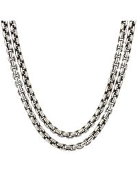 John Hardy - Classic Chain Box Chain Necklace With Figurative Naga Lobster 2.6 Mm. (silver) Necklace - Lyst