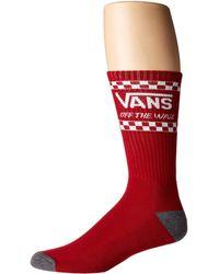 Vans - Crossed Sticks Crew Socks (dress Blues/white) Men's Crew Cut Socks Shoes - Lyst