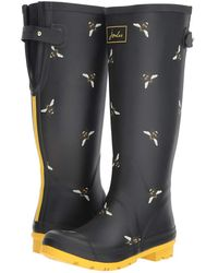 Joules - Tall Welly Print (french Navy Bircham Bloom) Women's Rain Boots - Lyst
