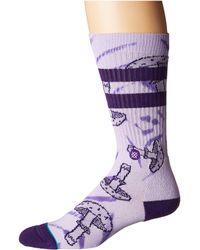 Stance - Mushie (violet) Men's Crew Cut Socks Shoes - Lyst