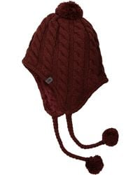 The North Face - Fuzzy Earflap Beanie (galaxy Purple) Beanies - Lyst