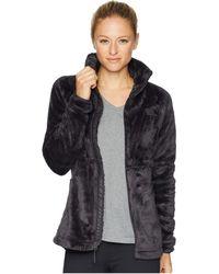 The North Face - Osito Sport Hybrid Full Zip (weathered Black) Women's Fleece - Lyst