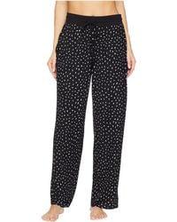 Donna Karan - Long Pants (black Small Print) Women's Pajama - Lyst