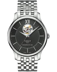 Tissot - Tradition Powermatic 80 Open Heart - T0639071105800 (black/grey) Watches - Lyst