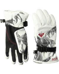 Roxy - Jetty Gloves (coral Cloud/dusk Swirl) Extreme Cold Weather Gloves - Lyst