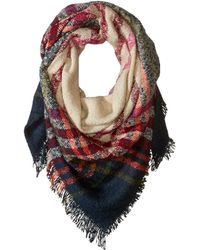 Hat Attack - Bright Plaid Blanket Scarf (plaid) Scarves - Lyst