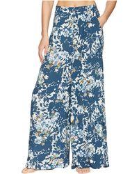 Free People - Late Night Sleep Pants (blue Combo) Women's Casual Pants - Lyst