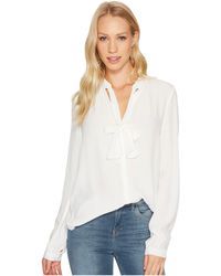 Lucky Brand - Tie Neck Top - Lyst