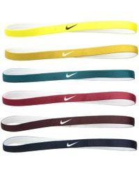 Nike - Headbands 6-pack (red Crush/burgundy Crush/dynamic Yellow) Athletic Sports Equipment - Lyst