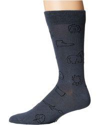 Richer Poorer - Anderson (navy) Men's Crew Cut Socks Shoes - Lyst