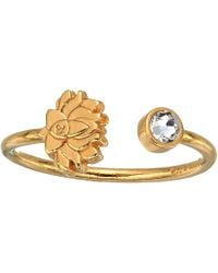 ALEX AND ANI - Lotus Peace Petals Ring (14kt Gold Plated) Ring - Lyst