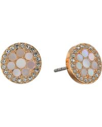 Fossil - Vintage Glitz Mother-of-pearl Stud Earrings - Lyst