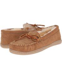 Minnetonka - Sheepskin Hardsole Moc (grey) Women's Moccasin Shoes - Lyst