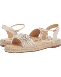 2814783f81aa Club Monaco · Badgley Mischka - Leandra (ivory Indian Silk) Women s Dress  Sandals - Lyst