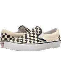 c1ff333ddfc Lyst - Vans Slip-on Pro (black white gum) Men s Skate Shoes in White ...