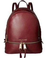 MICHAEL Michael Kors - Rhea Zip Medium Backpack (black) Backpack Bags - Lyst
