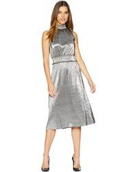 e10404b4aa Kensie - Pleated Shine Dress Ksnk8315 (black/silver) Women's Dress - Lyst