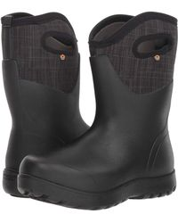 Bogs - Neo-classic Mid Linen (black Multi) Women's Rain Boots - Lyst