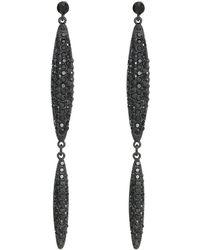 Kenneth Jay Lane | Stones Double Leaf Drop Pierced Earrings | Lyst