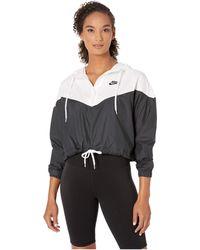 da3618a90 Nike - Sportswear Heritage Jacket Windbreaker (dark Grey/white/black) Women's  Coat