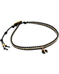 Chan Luu - Pyrite Horn Charm Single Wrap Bracelet (pyrite) Bracelet - Lyst