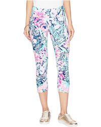 Lilly Pulitzer - Luxletic Anika Weekender Crop Leggings (multi Slathouse Soiree) Women's Casual Pants - Lyst