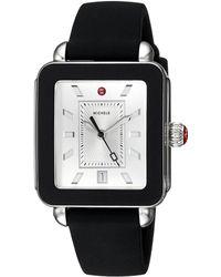 Michele - Deco Sport Black Silicone Watch (black) Watches - Lyst
