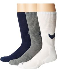 f3e971d93b678 Lyst - Nike Dri-fit Cotton Swoosh Hbr Crew Socks 3 Pack for Men