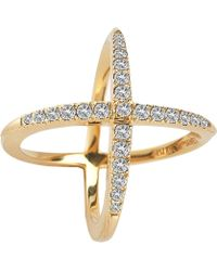 Elizabeth and James - Windrose Pave Ring - Lyst