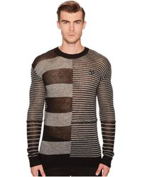 McQ - Patched Stripe Crew Sweater - Lyst