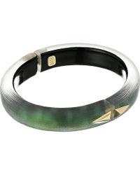 Alexis Bittar | Golden Studded Hinge Bracelet | Lyst